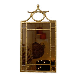 Gold Pagoda Mirror - This is an important piece in the makings of a great entryway. Hang this over a console table and you're well on your way.