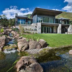 Aluminum Clad Windows and Doors - Luxury Colorado residence with premium aluminum clad windows and doors.  Photo credit Mike Hefron.