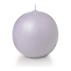 """Neo-Image Candlelight Ltd - Set of 12 - Yummi 2.8"""" Lavender Pearlescent Sphere Candles - Our unscented 2.8"""" Pearlescent Sphere Candles are ideal when creating a beautiful candlelight arrangement for the home or wedding decor.  Available in 7 trendy pearlescent candle colors hand over dipped with white core to match and compliment your home decor or wedding centerpiece decoration."""