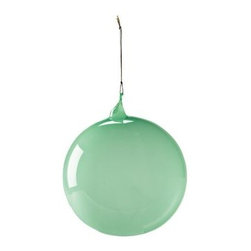 Serena & Lily - Glass Globe Jade (Large) - Create a festive air with glass spheres in different sizes and hues. Lay them on the mantel, arrange them in a bowl, sprinkle them into your holiday décor. The more, the merrier. Choose from a palette that's cheerful, vibrant, and fresh.