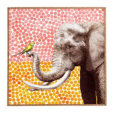 Garima Dhawan New Friends 2 Framed Wall Art - Bamboo frame with high gloss print