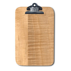 Note Catchers by Winwood Design - Curly Maple Magnetic Clipboard,   Refrigerator Magnet Extraordinaire - Designed to hold a traditional memo pad and pen. Crafted from solid Appalachian curly maple  wood. Surprising strong magnets that will adhere to most steel surfaces.  Made in the USA with earth friendly American hardwoods. Organize your kitchen, office or car with this beautiful accessory.