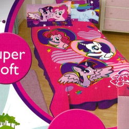 My Little Pony Heart Plush Blanket - Keep cozy and warm on the couch or in bed with this My Little Pony plush blanket.