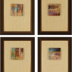 Paragon Decor - Rewind Set of 4 Artwork - Exclusive Embellished Gicl�ee on Canvas with Gold Leaf Details