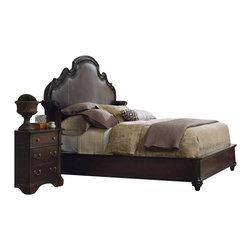 Hooker Furniture - Hooker Furniture Estate Shelter Bed 3 Piece Bedroom Set in Mahogany - Hooker Furniture - Bedroom Sets - 5168908XX3PCPKG -