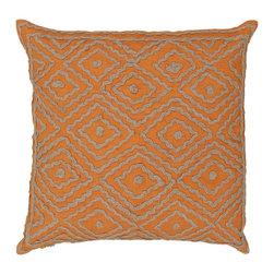"Surya - Surya 20 x 20 Decorative Pillow, Golden Ochre and Driftwood Brown (LD029-2020P) - Surya LD029-2020P 20"" x 20"" Decorative Pillow, Golden Ochre and Driftwood Brown"