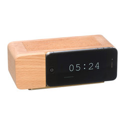 Areaware - Alarm Dock i5 (Natural Wood) - Remember those faux wood grain GE flip clocks that sat on every bedside table just a couple of decades ago? The alarm dock uses a nostalgic product language to meet the progressively thin and disappearing profiles of consumer electronics. It is at once a critique and an accommodation to new technology.