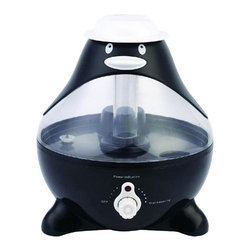 SPT Appliance - Sunpentown Penguin Ultrasonic Humidifier - Perfect for kids rooms, this whimsical penguin themed humidifier has an exciting design and ultra quiet operation. You can adjust the mist intensity to your liking. Ultrasonic technology ensures your air is properly moisturized for virtually any room in your home. Cool mist (ultrasonic technology). High humidity output. Silent operation. Adjustable mist intensity. Auto shut-off protection (ultrasonic generator only - fan will continue to run). 1 gallon (3.75 L) tank capacity. Moisture output up to 7.5 liters per day. Designed for rooms up to 450 sq. ft.. No-slip feet. Adorable design. ETL. Input voltage: 120V / 60Hz. Power consumption: 28W. Water tank capacity: 1 gallon / 3.75 liters. Humidity output capacity: 7.5 liters / day. Colors: Black, White and Clear. 11 in. W x 10 in. L x 10.25 in. H (4 lbs.)Help your little ones breathe easier by adding moisture to the air with our adorable Penguin-shaped humidifier. Provides year-round relief from the drying effects of AC and Heater. Features super-quiet operation, 1-gallon tank capacity and auto shut-off protection (with no audible alarm) - the perfect addition to any child's room.