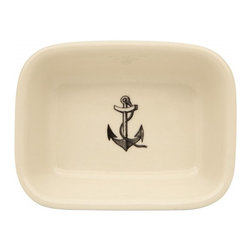 Anchor Soap Dish - Keep squeaky clean and seasonable with Jayson Home's ceramic Anchor Soap Dish.