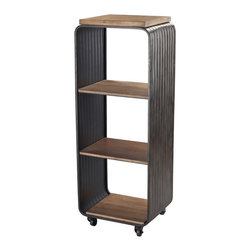 Sterling Industries - Sterling Industries 51-10140 Maltapan-Wood Tone & Metal Shelf w/ Wire Accents - Shelf (1)