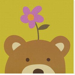 Artcom - Peek-a-Boo VI, Bear by Yuko Lau - Peek-a-Boo VI, Bear by Yuko Lau is a Stretched Canvas Print.