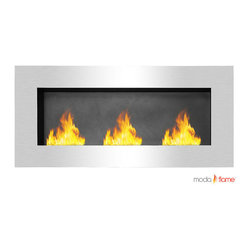 Moda Flame - Moda Flame Hudson Recessed Wall Mounted Bio Ethanol Fireplace - Moda Flame Hudson Recessed Wall Mounted Bio Ethanol Fireplace The Hudson Wall Mounted Ethanol Fireplace creates a charisma that is completely irresistible to watch. The fascinating dancing flames on a wall from the Hudson fireplace create a statement to any room. Mount it on a wall or built into one for an alluring appeal. Possibilities and style are endless with the Hudson Recessed Wall Mounted Ethanol Fireplace. Fireplace (1)