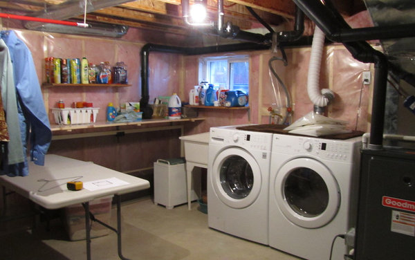 Unfinished Basement Laundry Room Ideas Room Will Be 9 Ft X 8 Ft