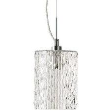 Pendant Lighting Clear Ice Mini Pendant by Quorum