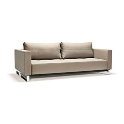 Innovation USA - Innovation USA Cassius Deluxe Excess Lounger Sofa- Chrome Legs - Classic Medium - A highly comfortable, convertible lounge sofa in a relaxed elegant design that allows it to be free standing in the middle of a room. The Deluxe adds a classic, modernistic character to the sofa.
