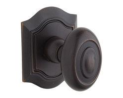 Baldwin Hardware - Baldwin Estate 5077 Decorative Rose  Knob Set - Venetian Bronze - 5077 Product Details: