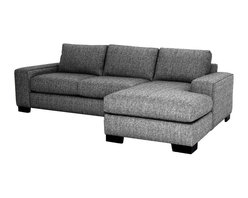 Apt2B - Melrose 2PC Sectional Sofa, Smoke, 107x65x28, Chaise on Left - You've got to love the flexibility a two-piece sectional provides. Combine the pieces for a chic space to spread out, or set each piece up separately for countless seating options. Either way, you'll be kicking back in comfort and style with this custom sofa.