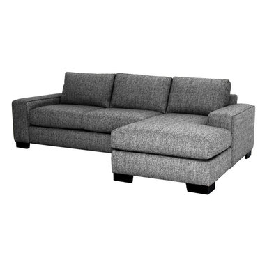 Apt2B - Melrose 2-Piece Sectional Sofa, Smoke, Chaise on Left - You've got to love the flexibility a two-piece sectional provides. Combine the pieces for a chic space to spread out, or set each piece up separately for countless seating options. Either way, you'll be kicking back in comfort and style with this custom sofa.