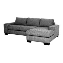 Melrose 2-piece Sectional Sofa, Smoke, Chaise on Left