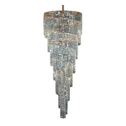 James R Moder - 91375G22 James R Moder Entry Chandelier - In most designs, the major cost of a Crystal Chandelier is the price of the Crystal components. The quantity and shapes of the Crystal utilized to trim the Chandelier and most importantly, as in grades of diamonds, the crystal quality determines the price. James R Moder  Crystal offers IMPERIAL Crystal trim