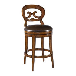 EuroLux Home - New Armless Swivel Counter Stool Distressed - Product Details