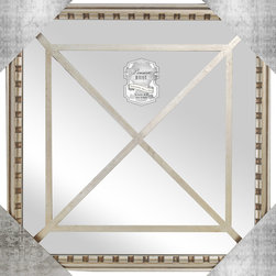 "Enchante Accessories Inc - Square Framed Wall Mirror 15.9""x 15.9"" (Antique Silver) - Square Framed Wall MirrorDecorative design with a weathered finish for a vintage lookPerfect Foyer MirrorVersatile design that can be hung in any hallway, living room, bedroom, or entrywayMeasures 15.9 in.x 15.9 in.Mirrors not only reflect your image, but they reflect your style.  The types of mirrors you choose to hang in your home not only provide function, but act as a great accent piece that shows your sense of style apart and reflects your taste.  Made from durable wood and accented with distressed finishes, beveled edges, and weathered details that give them a rustic, vintage look, these mirrors add beauty to any wall in any room of the house.  Perfect for use in an entry way, a hallway, a dining room, a living room, or a bedroom, these rustic mirrors have that vintage inspired French country look that adds instant charm and casual comfort to any home. For a unique look and an interesting display, hang mirrors of different sizes, shapes, and colors on the same wall.  Mirrors help to add texture and dimension and create the illusion of a larger space.  By hanging multiple mirrors in a small space, you can create interest and increase the perceived size and feel of the space around you.  Available in both rectangular shapes and rectangular shaped frames with oval mirrors in the center, these rustic wood mirrors come in a variety of color finishes that have a neutral appeal and can be easily coordinated with any type of rustic furniture or shabby chic room decor. With the look and feel of a treasured family heirloom, these mirrors are aged and weathered to give them a vintage look and evoke a sense of old fashioned spirit.  Reminiscent of something you may have once seen in a charming country cottage, these wooden mirrors let you check out your own reflection as well as reflect the beautiful room around you.  The antique look makes them the perfect addition to any casual space while the clean mirrored glass provides the function that aged and worn mirrors often cannot."