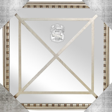 """Enchante Accessories Inc - Square Framed Wall Mirror 15.9""""x 15.9"""" (Antique Silver) - Square Framed Wall MirrorDecorative design with a weathered finish for a vintage lookPerfect Foyer MirrorVersatile design that can be hung in any hallway, living room, bedroom, or entrywayMeasures 15.9 in.x 15.9 in.Mirrors not only reflect your image, but they reflect your style.  The types of mirrors you choose to hang in your home not only provide function, but act as a great accent piece that shows your sense of style apart and reflects your taste.  Made from durable wood and accented with distressed finishes, beveled edges, and weathered details that give them a rustic, vintage look, these mirrors add beauty to any wall in any room of the house.  Perfect for use in an entry way, a hallway, a dining room, a living room, or a bedroom, these rustic mirrors have that vintage inspired French country look that adds instant charm and casual comfort to any home. For a unique look and an interesting display, hang mirrors of different sizes, shapes, and colors on the same wall.  Mirrors help to add texture and dimension and create the illusion of a larger space.  By hanging multiple mirrors in a small space, you can create interest and increase the perceived size and feel of the space around you.  Available in both rectangular shapes and rectangular shaped frames with oval mirrors in the center, these rustic wood mirrors come in a variety of color finishes that have a neutral appeal and can be easily coordinated with any type of rustic furniture or shabby chic room decor. With the look and feel of a treasured family heirloom, these mirrors are aged and weathered to give them a vintage look and evoke a sense of old fashioned spirit.  Reminiscent of something you may have once seen in a charming country cottage, these wooden mirrors let you check out your own reflection as well as reflect the beautiful room around you.  The antique look makes them the perfect addition to any casual space wh"""