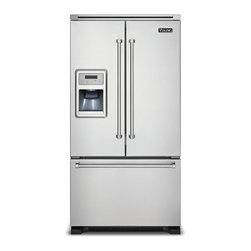 "Viking 36"" French Door Refrigerator, Stainless Steel | VCFF136DSS - Cabinet Depth Design"