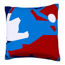 Custom Photo Factory - Abstract Shapes Pillow.  Polyester Velour Throw Pillow - Abstract Shapes Pillow. 18 Inches x 18  Inches.  Made in Los Angeles, CA, Set includes: One (1) pillow. Pattern: Full color dye sublimation art print. Cover closure: Concealed zipper. Cover materials: 100-percent polyester velour. Fill materials: Non-allergenic 100-percent polyester. Pillow shape: Square. Dimensions: 18.45 inches wide x 18.45 inches long. Care instructions: Machine washable