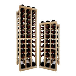 Wine Cellar Innovations - 3 Col Indv Top Stack w/Display; Vintner: Rustic Pine, Unstained, 4 Ft - Each wine bottle stored on this three column individual bottle wine rack is cradled on customized rails that are carefully manufactured with beveled ends and rounded edges to ensure wine labels will not tear when the bottles are removed. This wine rack also has a built in display row. Purchase two to stack on top of each other to maximize the height of your wine storage. Moldings and platforms sold separately. Assembly required.