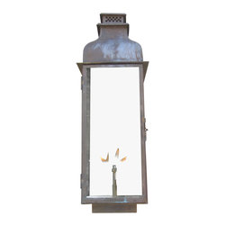 St. James Lighting - Sarasota Small Copper Wall Mount Automatic Ignition Pendant Lantern - Sarasota Small Copper Wall Mount Automatic Ignition Pendant Lantern. The Sarasota Lantern provides several different options for placement and operation. It can be mounted on the wall with several different wall mounts to choose from or mount it from the ceiling for a romantic touch. This lantern can even be placed on a stand alone post! For an open flame and a more natural look, natural gas or propane gas can be used. A light switch or other device can be used to automatically light the Madison. If you decide on electric lighting, choose from a Edison Socket or a Candelabra Cluster for the lighting display.