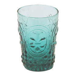 Green Glasses - With a modern design, this drinkware collection provides a stunning addition for any occasion. Made using green tinted glass with designs that add texture and style with an improved grip.