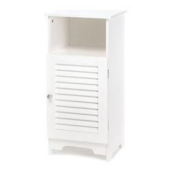KOOLEKOO - Nantucket Storage Cabinet - Big on storage yet surprisingly sleek, this shelf and cabinet combination tucks anywhere for instant organization. A winning style addition for any room in your home!
