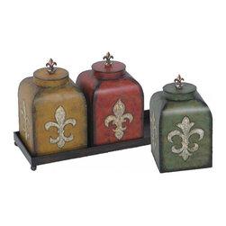 Joshua Marshal - Set/3 Fleur De Lis Boxes - Set/3 Fleur De Lis Boxes