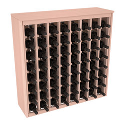 Wine Racks America - 64 Bottle Deluxe Wine Rack in Premium Redwood, White Wash Stain - Styled to appear as wine rack furniture, this wooden wine rack will match existing decor while storing 64 bottles of wine. Designed to look like a freestanding wine cabinet, the solid top and sides promote the cool and dark storage area necessary for aging wine properly. Your satisfaction and our racks are guaranteed.