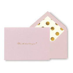 Kate Spade - Kate Spade 'How The Devil Are You?' Note Cards - With these kate spade new york correspondence cards you can keep in touch with an old pen pal or long-distance friend in a bright and bold fashion.