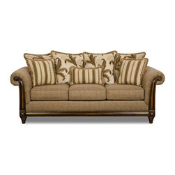 Simmons Upholstery - Tiki Upholstery Queen Sleeper Sofa - 8007-QS - Tiki Collection Queen Sleeper Sofa