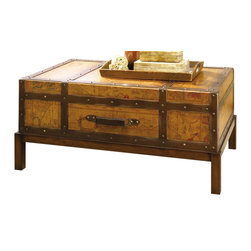 Hammary - Hidden Treasures Rectangular Cocktail Table - One drawer. Wooden block base. Limited warranty. Assembly required. 40 in. W x 24 in. D x 18.25 in. H