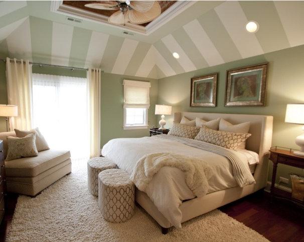 Tropical Bedroom by Adam Zollinger Interiors