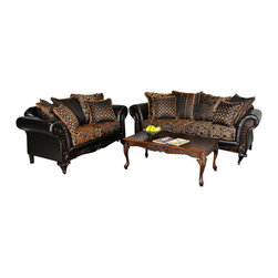 Chelsea Home Furniture - Chelsea Home Elegant 2-Piece Living Room Set in Candytuft Storm - Elegant 2 Piece Living Room Set in Candytuft Storm belongs to Benchmark collection by Chelsea Home Furniture.