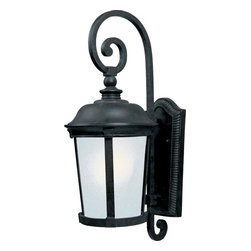Joshua Marshal - One Light Bronze Frosted Seedy Glass Wall Lantern - One Light Bronze Frosted Seedy Glass Wall Lantern