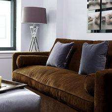 Eclectic Living Room by Holzman Interiors, Inc.