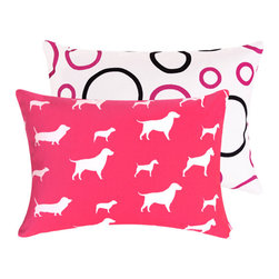 RR - Pink Dog Boudoir Pillow - Pink Dog Boudoir Pillow