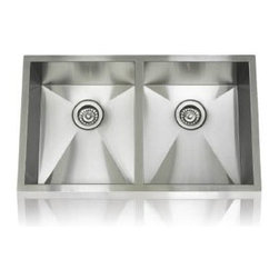 Lenova - Lenova Ss-0Ri-D3 Undermount Equal Double Bowl Kitchen Sink Stainless Steel - The Lenova SS-0Ri-D3 Zero Radius Equal Double-Bowl Undermount Kitchen Sink has overall sink dimensions of 32-Inch by 19-Inch and bowl dimensions of Left: 14-3/8-Inch by 17-Inch by 10-Inch, Right: 14-3/8-Inch by 17-Inch by 10-Inch. The name Lenova is born from a love of space and stars where the universe is truly unlimited. In this boundless spirit we present a line of new and timeless designs for kitchen and bath sinks. The Zero Radius collection offers a performance sink for the serious cook. Hand made to our specifications in 16-Gauge premium stainless steel with scratch-resistant satin finish and 5 - Side sound baffling, plus our superior X Channel drainage technology. Zero radius undermount sinks will handle any situation and look great doing it. Covered by Lenova's Limited Lifetime Warranty: Lenova Sinkware warrants all of its stainless steel sinks to be free of all manufacturing and material defects under normal use by the original owner.