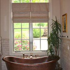Traditional Roman Shades by Hanging In Style Designs