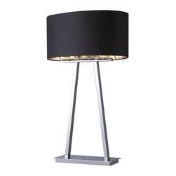 Dimond Lighting - Dimond Lighting D1479 Trump Home Empire Chrome Table Lamp - Dimond Lighting D1479 Trump Home Empire Chrome Table Lamp