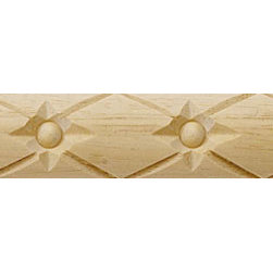 """Inviting Home - Pittsburg Carved Wood Panel Molding - panel wood molding 1""""H x 1/4""""P x 8'00""""L sold in 8 foot length 4 piece minimum order required Wood panel molding specifications: Outstanding quality molding profile carved from high grade kiln dried solid European beech wood. High relief decorative design is machine carved. Wood molding is sold unfinished and can be easily stained painted or glazed. The installation of the wood molding should be treated the same manner as you would treat any wood molding: all molding should be kept in a clean and dry environment away from excessive moisture. acclimate wooden moldings for 5-7 days. when installing wood moldings it is recommended to nail molding securely to studs; pre-drill when necessary and glue all mitered corners for maximum support."""