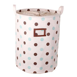 Greenforest - Cotton Jute With Little Dot  Laundry Hampers - GreenForest has been focused on household items since 2005 which also is a registered trademark