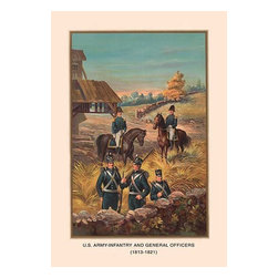 """Buyenlarge.com, Inc. - U.S. Army and General Officers 1813 - 1821 - Paper Poster 20"""" x 30"""" - Another high quality vintage art reproduction by Buyenlarge. One of many rare and wonderful images brought forward in time. I hope they bring you pleasure each and every time you look at them."""