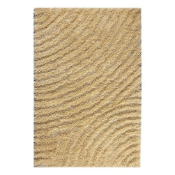 """MAT Orange Tweed Vanilla Rug - 5'2""""x7'6"""" - The rugs in this collection are all inspired by urban lanandscapes, making way for a statement where texture, shape, and line are the form. The rug's texture and the marriage of colors speak to the contemporary room. """"It is the art piece on the floor.  Because of the artistic quality ofThe rugs they are easily used in modern as well as traditional interiors. Pile Height:1.  Inches"""